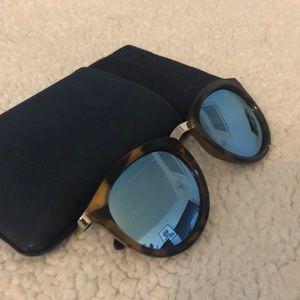 Le Specs Mirrored Sunglasses w/case